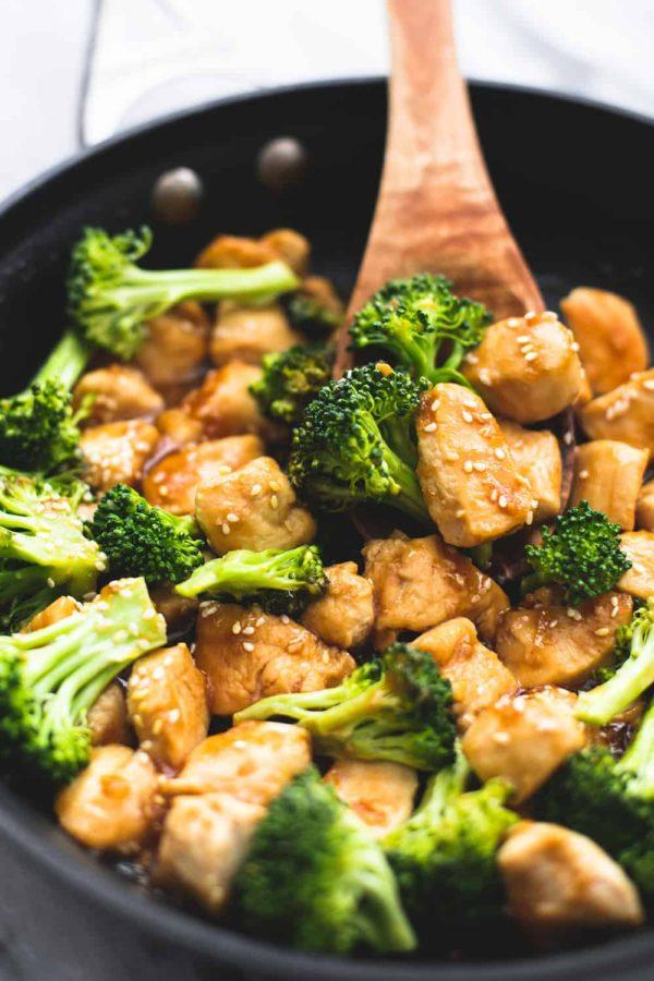 Сковородка из курицы с брокколи